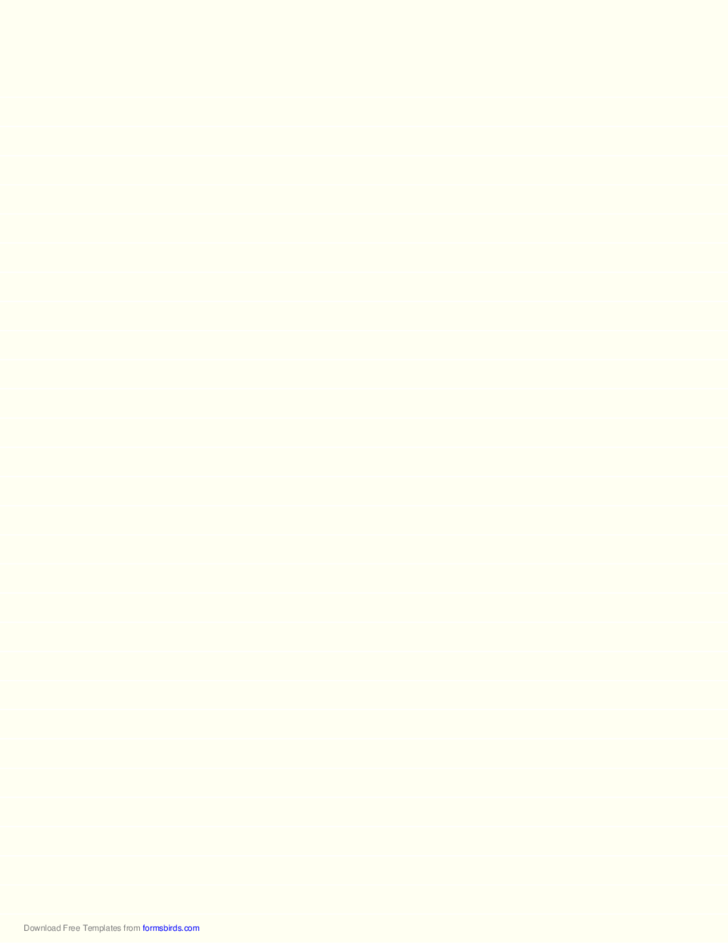 Lined Paper - Pale Yellow - Wide White Lines