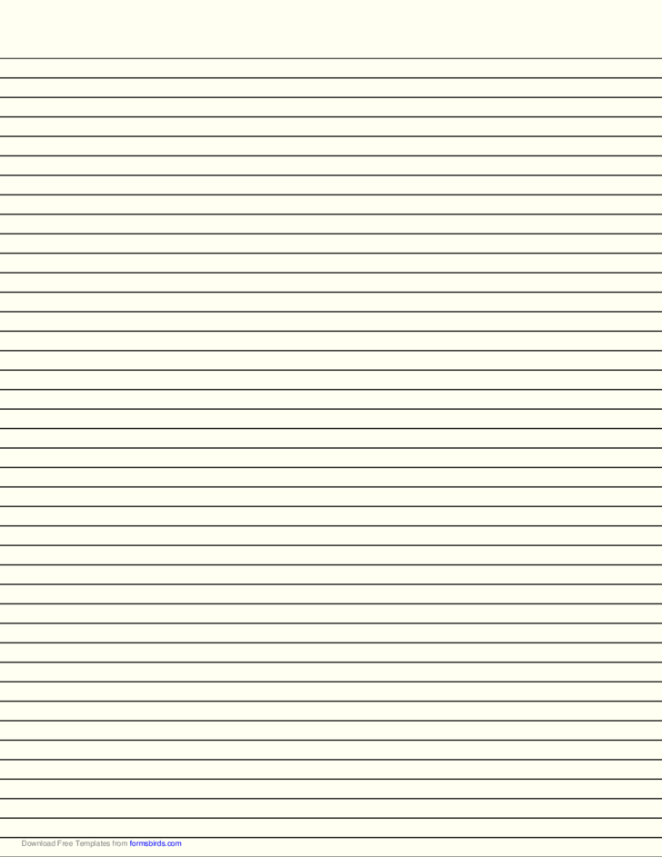 lined paper with narrow black lines