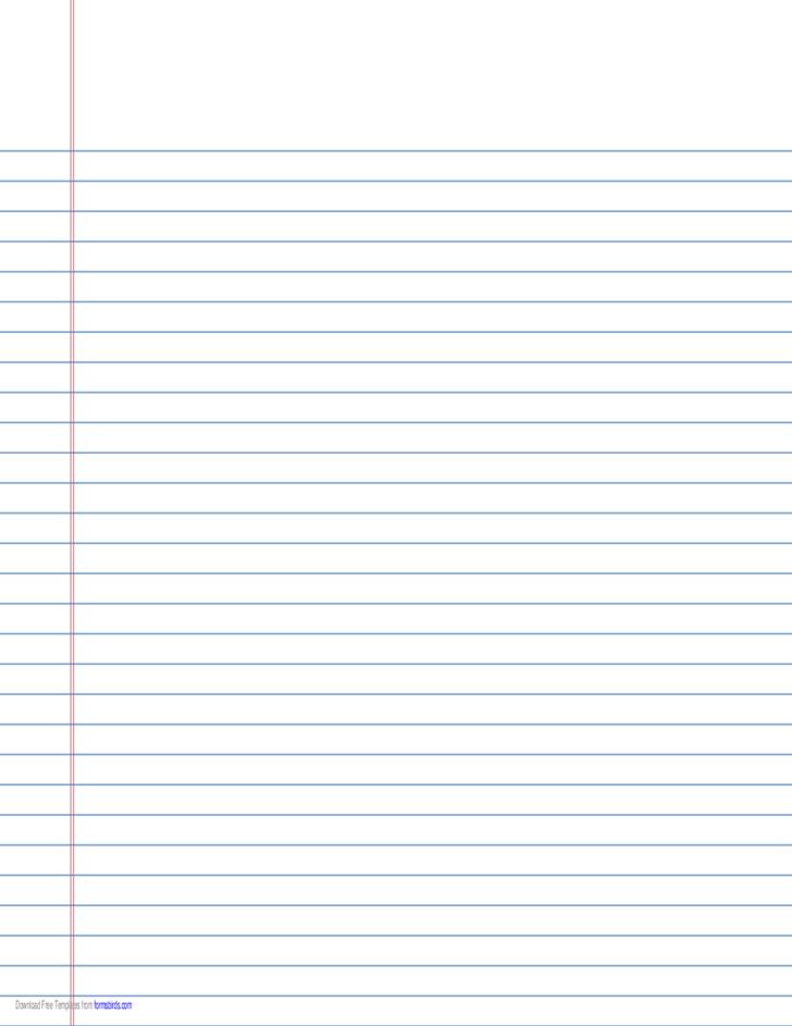 Double sided lined paper