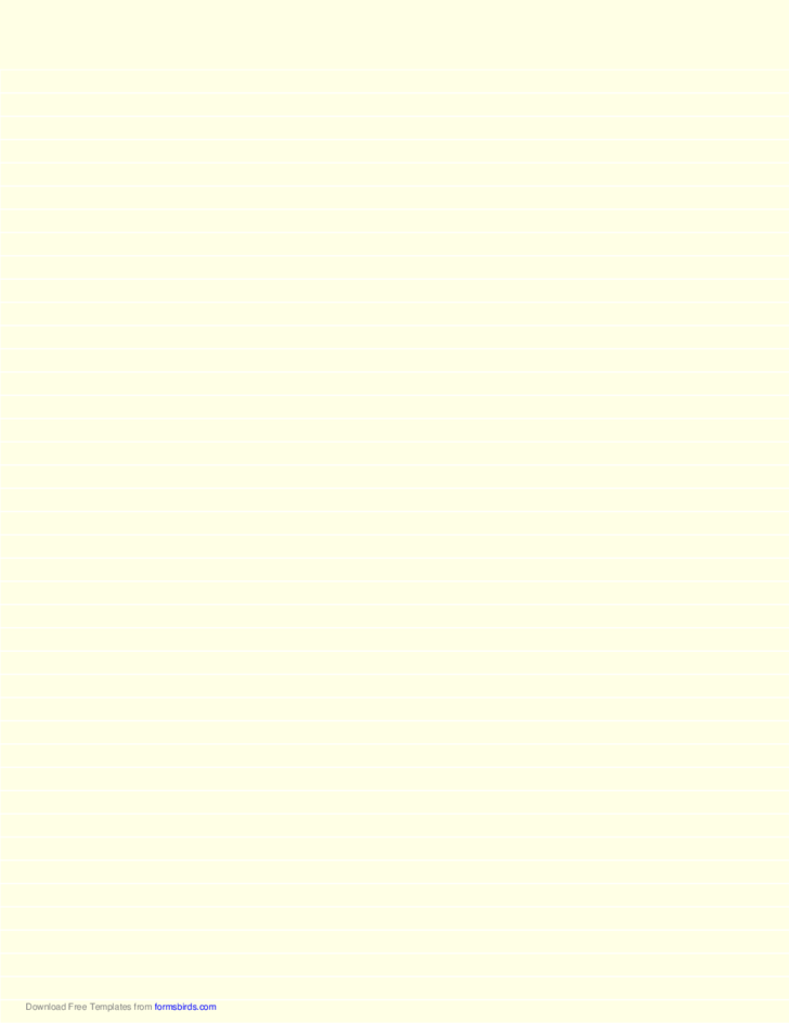 Lined Paper - Light Yellow - Narrow White Lines