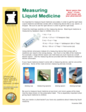 Liquid Medicine Measurements Chart Free Download