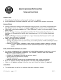 Liquor Licence Application Form - Oregon Free Download