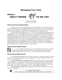 Daily Things To Do List Guidelines Free Download