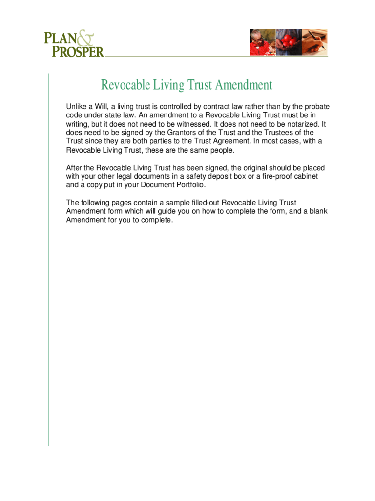 Beautiful Free Living Trust Template Gallery - Entry Level Resume ...