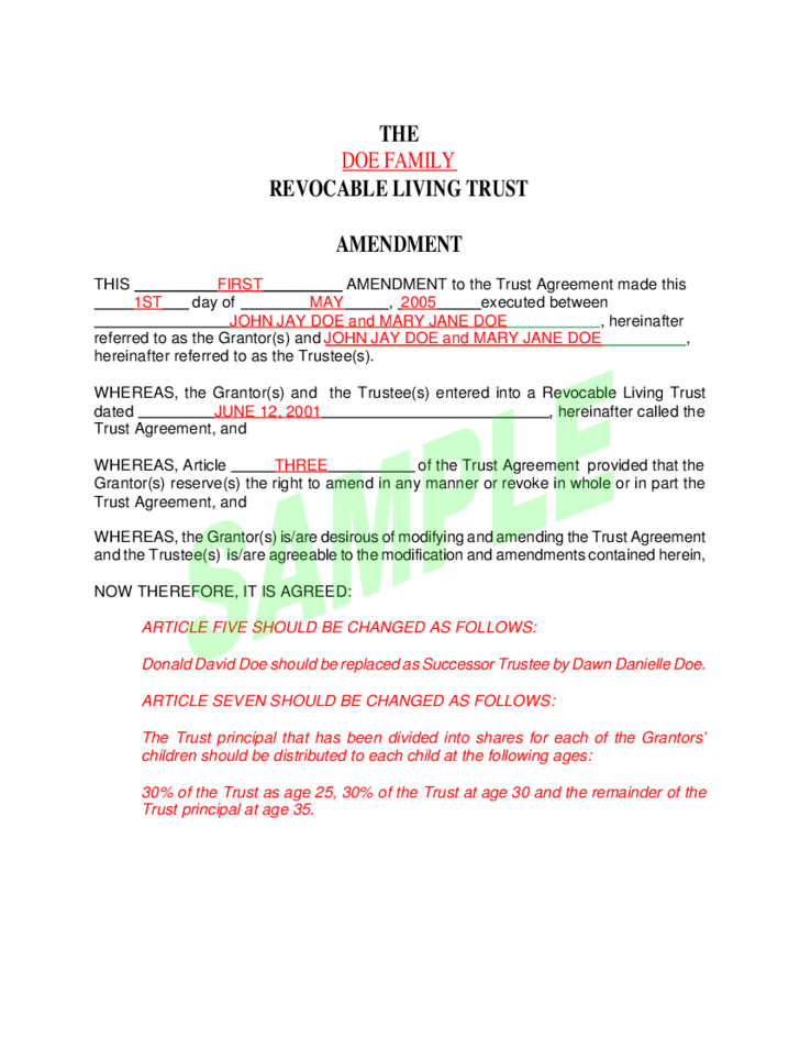 2 Sample Living TrustSample Living Trust Free Download. Florida Revocable Trust Forms. Home Design Ideas