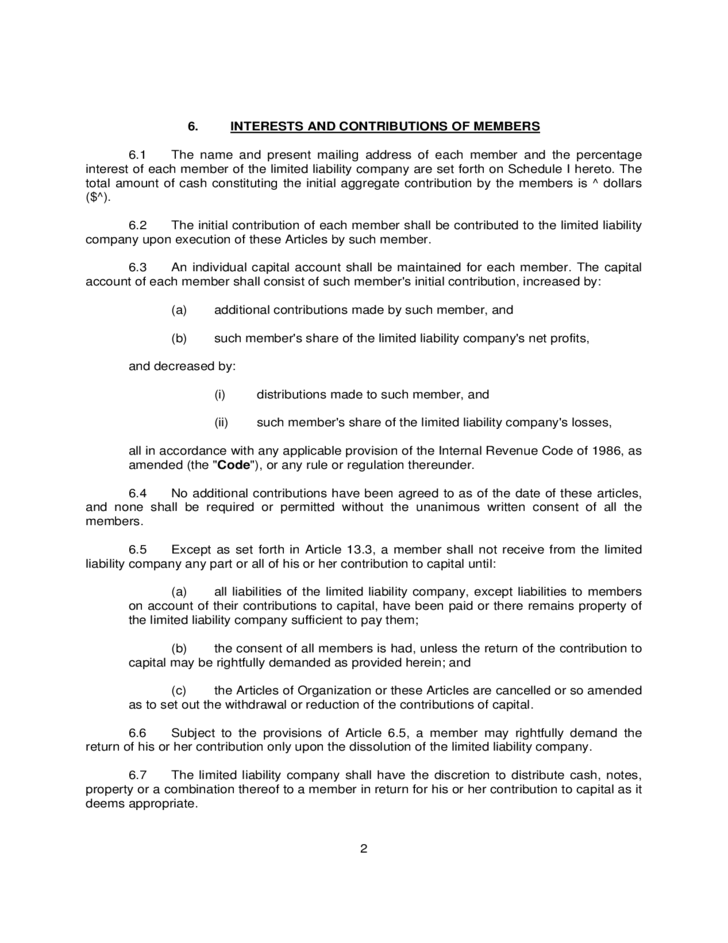 Operating agreement example for llcs free download for Operation agreement llc template