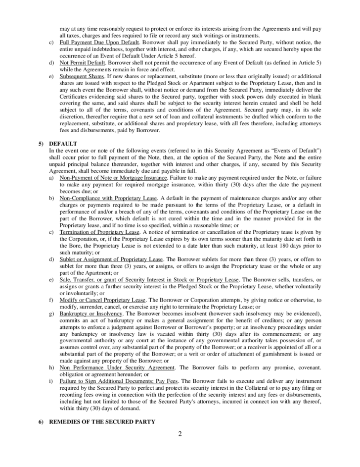 Sample Apartment Rental Agreement TheApartment – Sample Security Agreement