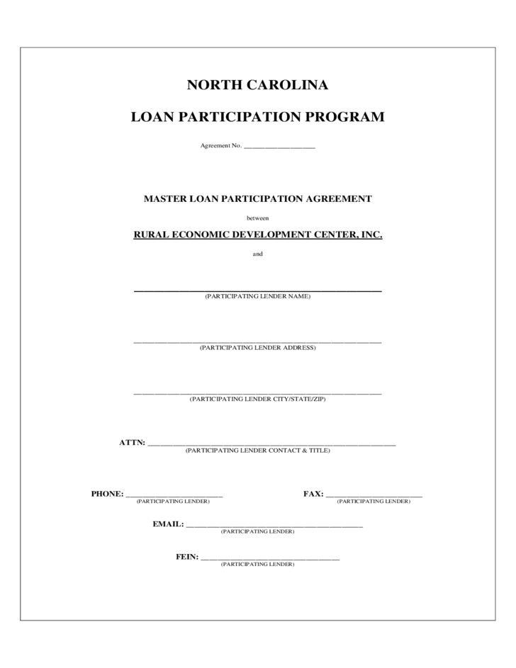 North carolina loan participation program free download for Participation waiver template