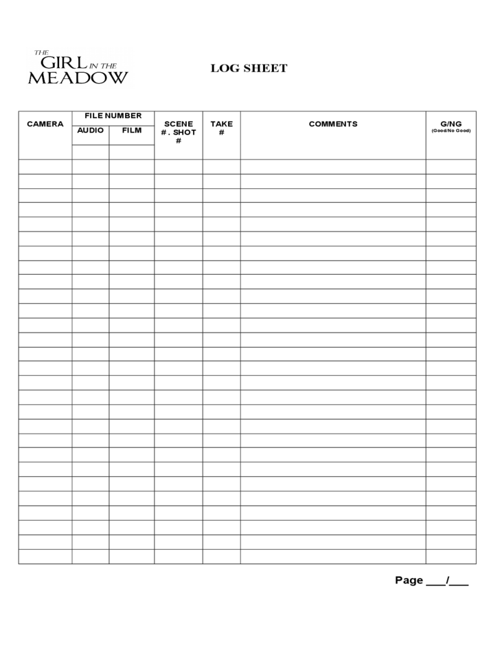film log sheet free download