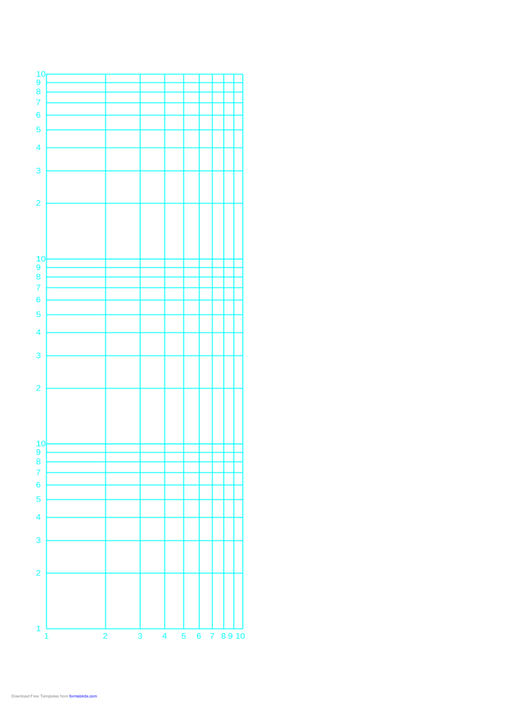 Log-Log Paper with Logarithmic Horizontal Axis and Logarithmic Vertical Axis