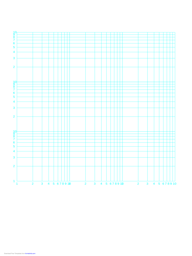Log-Log Paper - Three Decades Horizontal Axis and Three Decades Vertical Axis