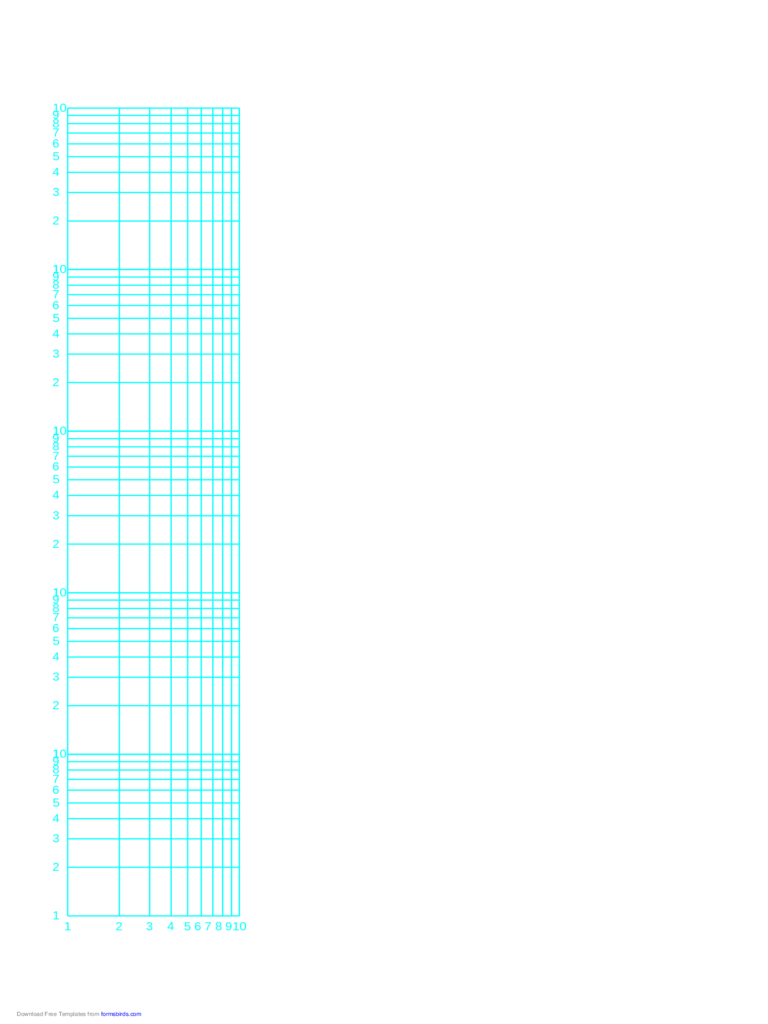 Log-Log Paper - One Decade Horizontal Axis and Five Decades Vertical Axis (B)