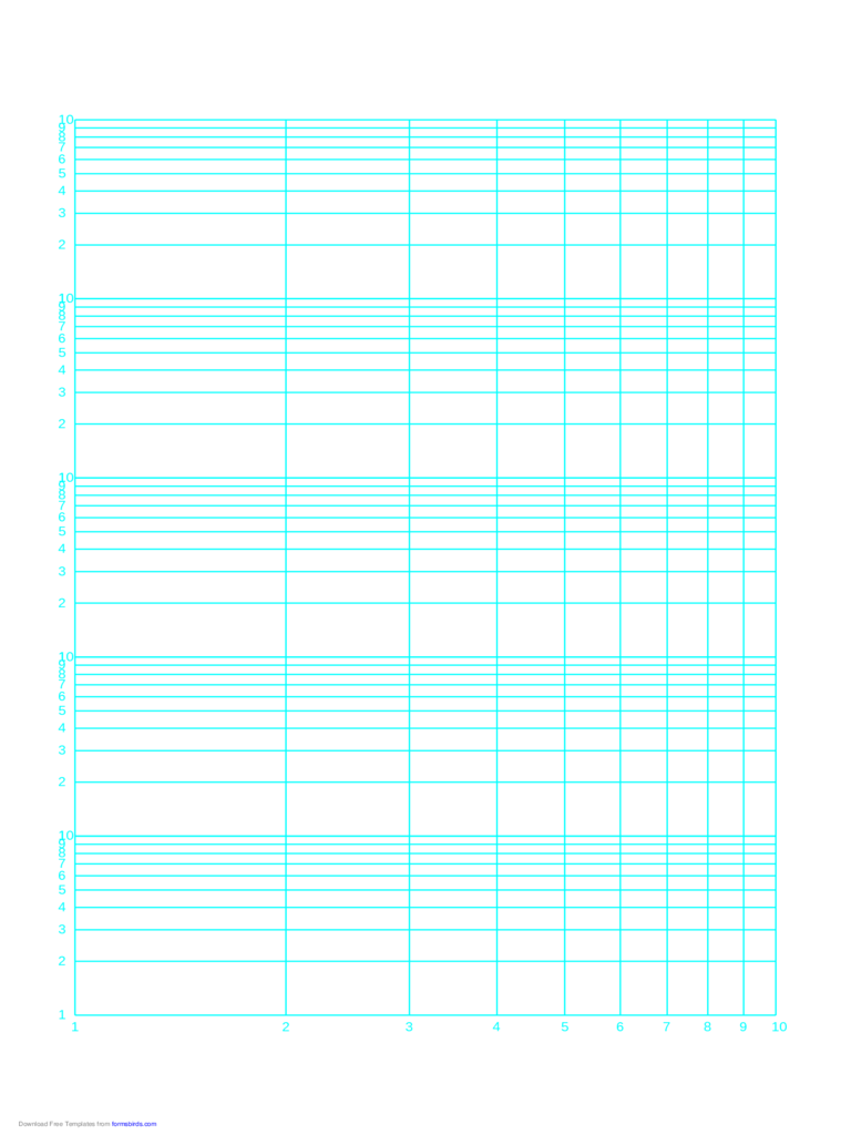 Log-Log Paper - One Decade Horizontal Axis and Five Decades Vertical Axis (A)