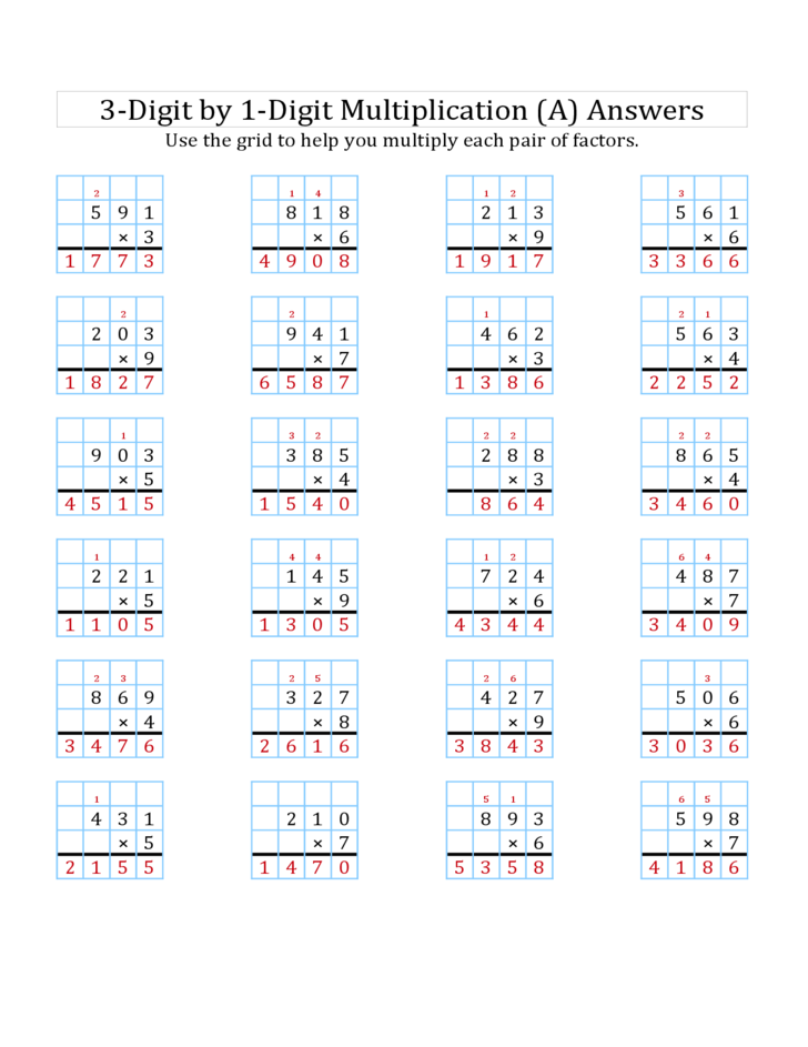 Teaching Grid Method Multiplication Year 3 Teaching Strategies – Lattice Method Multiplication Worksheet