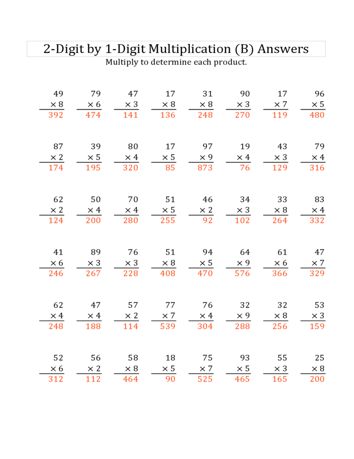 2 digit multiplication puzzle worksheets free
