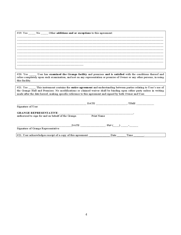 Long Term Lease Form - Oregon