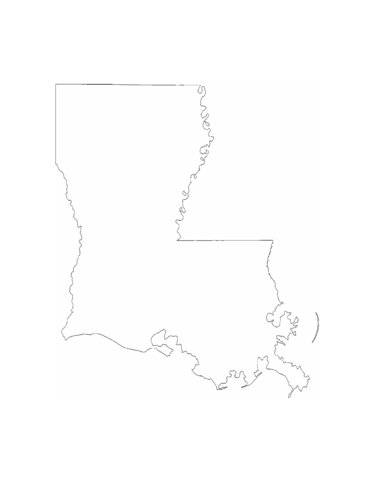Louisiana Map Template 8 Free Templates in PDF Word Excel Download