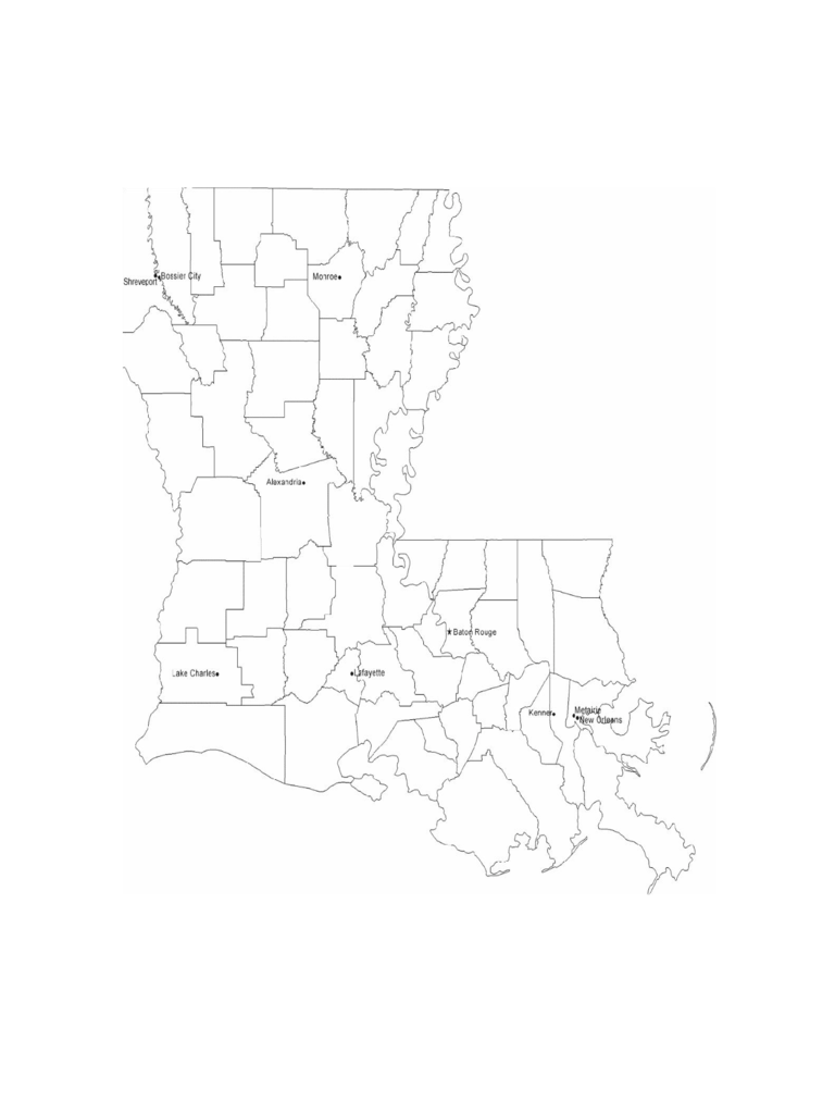 louisiana map template