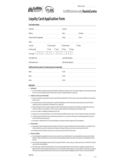 Loyalty Card Application Form - Griffith University Free Download