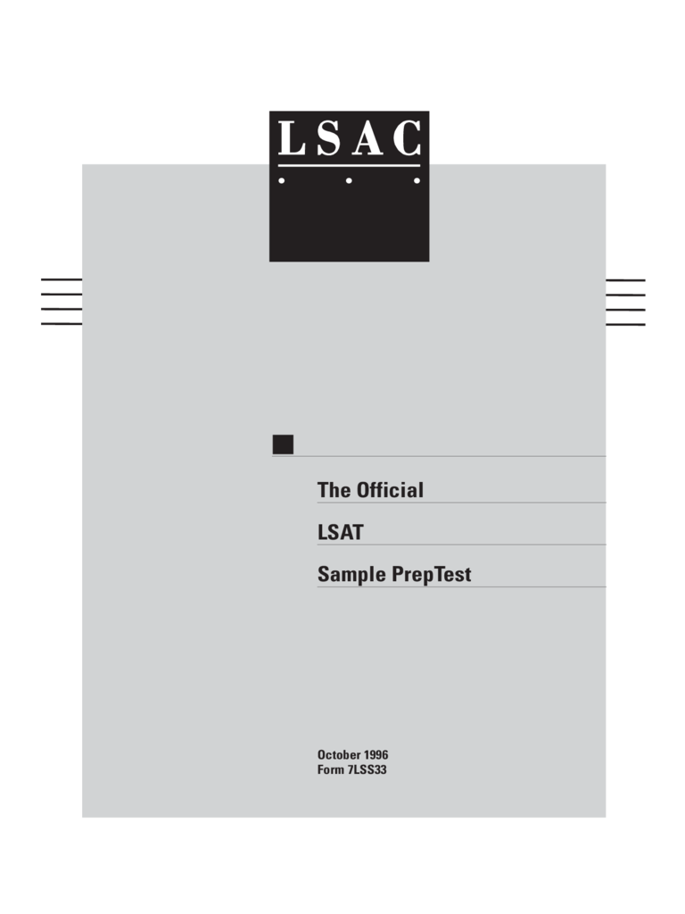LSAT Sample PrepTest Free Download