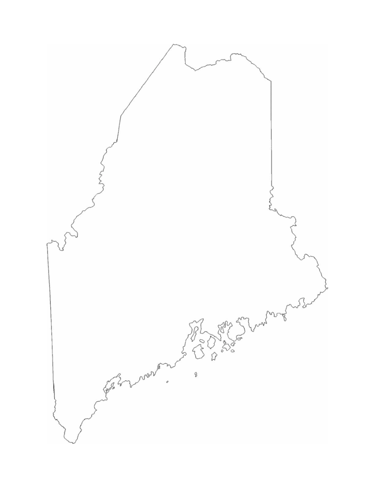 Maine State Outline Map