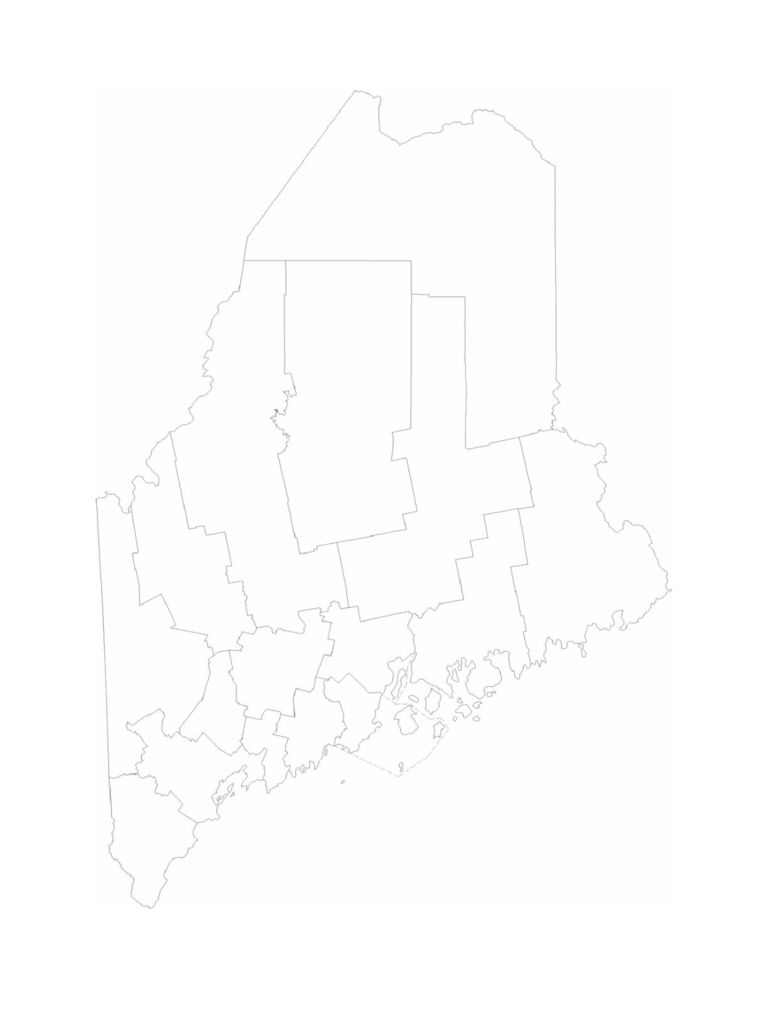 Blank Maine County Map
