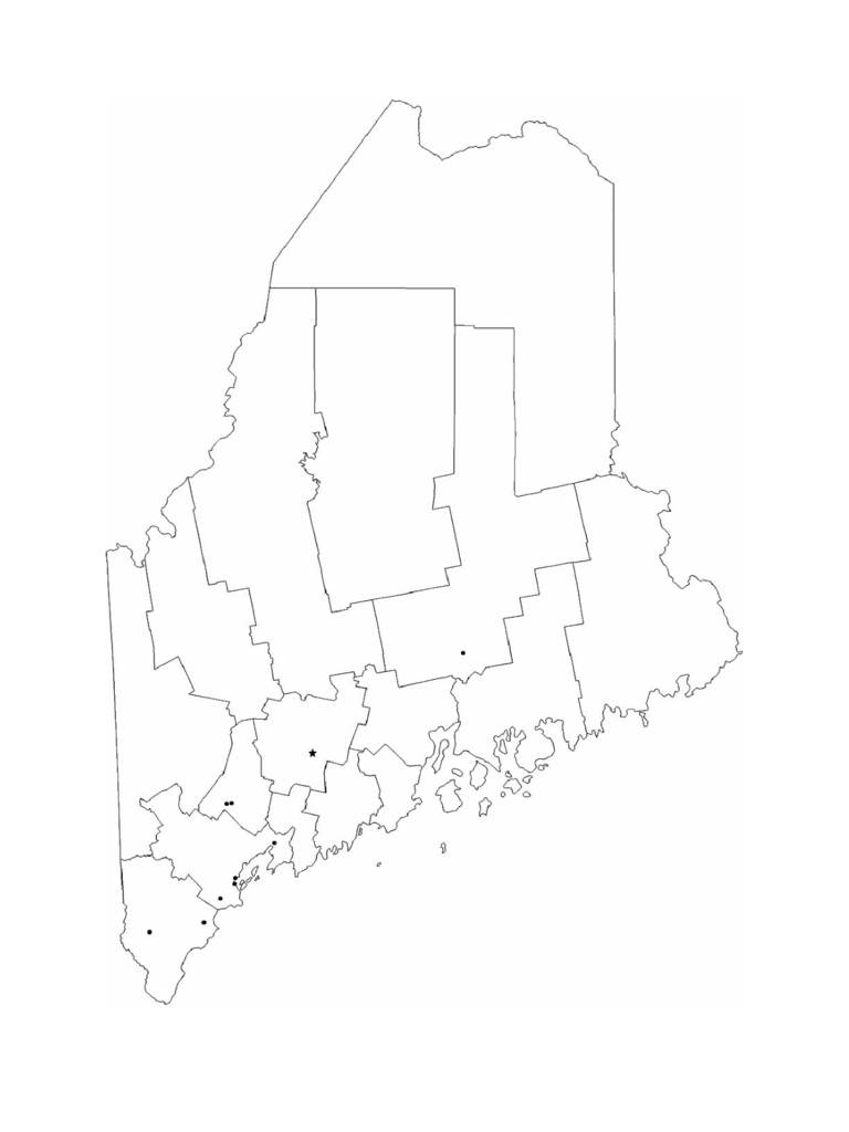 Blank Maine City Map