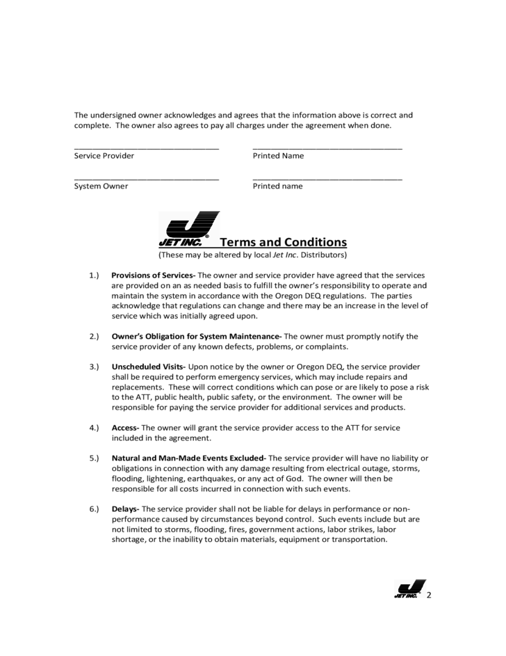 sample service contract free download