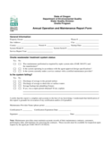 Maintenance Report Form - Oregon Free Download
