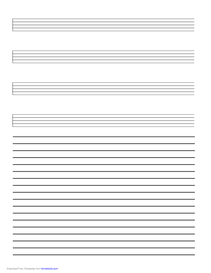 Music Paper with Annotations at Bottom