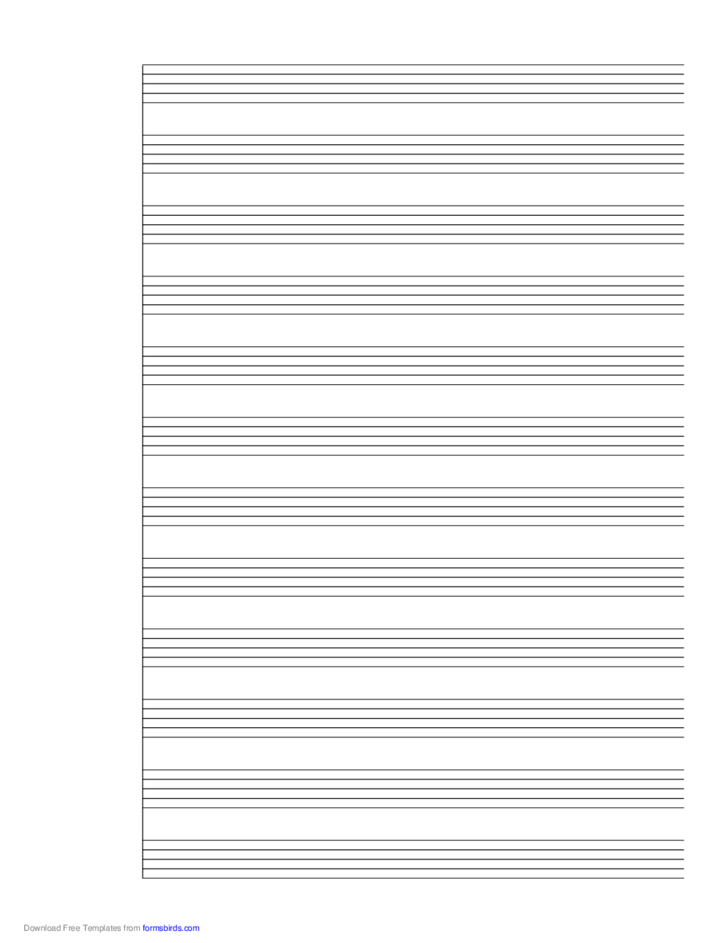 1 System of 12 Staves Music Paper