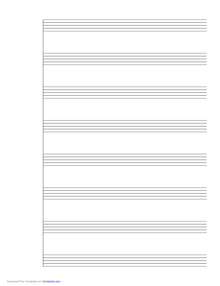 1 System of 8 Staves Music Paper