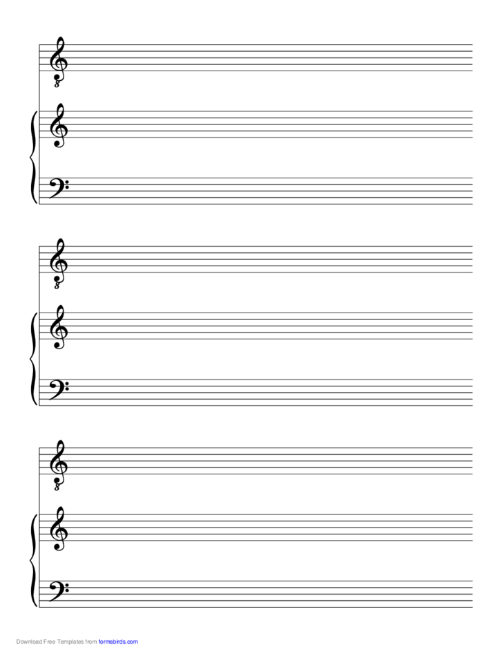 Solo-Tenor Voice with Accompanist Music Paper