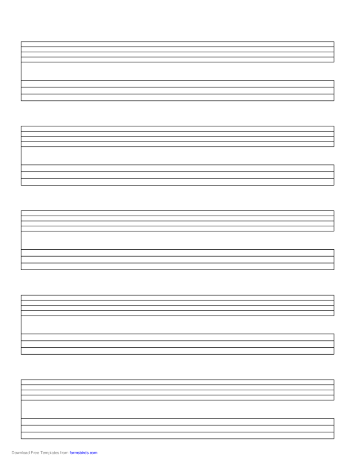 Staff and Tablature Music Paper