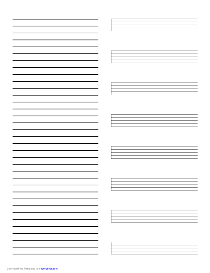 Music Paper with Annotations on Left