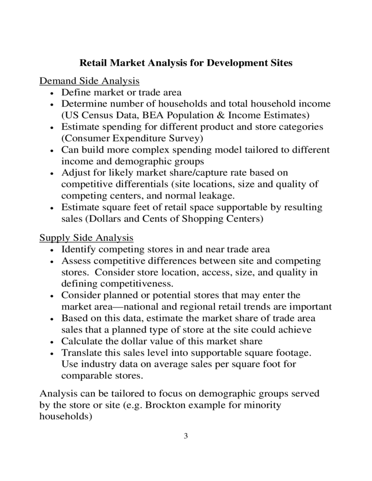 Retail Market Analysis Sample Free Download – Market Analysis Example