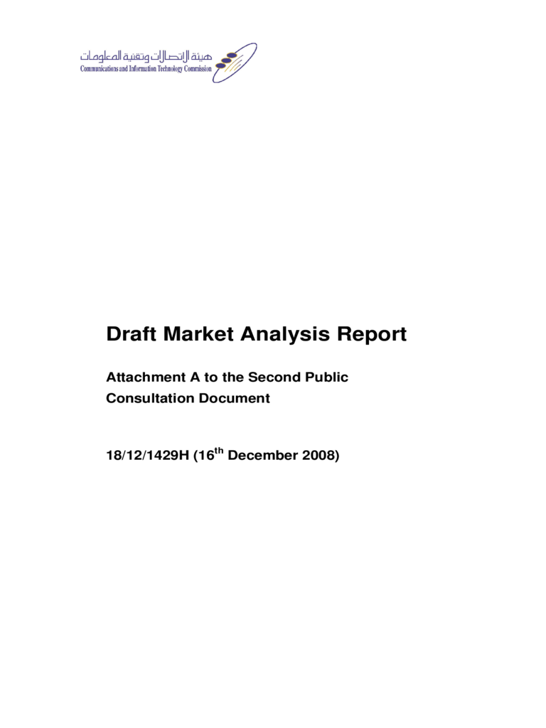 Draft Market Analysis Report