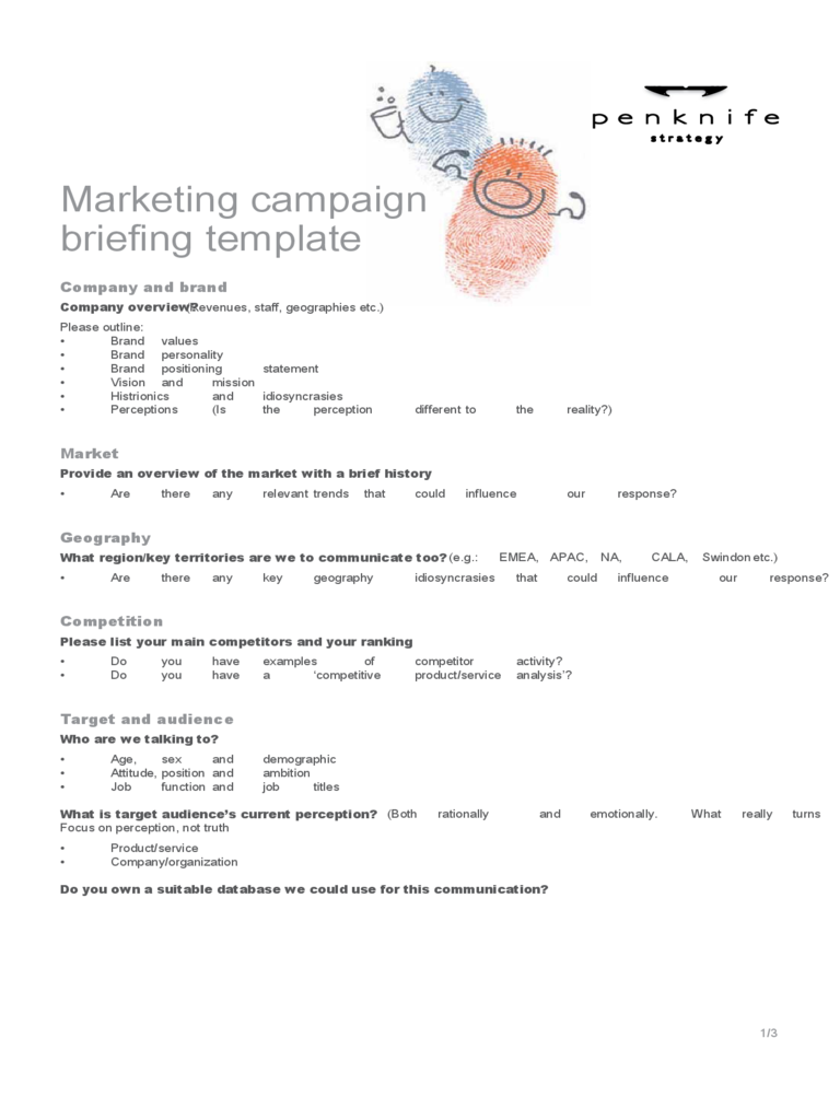 Sample Marketing Campaign Template  Marketing Campaign Template Word
