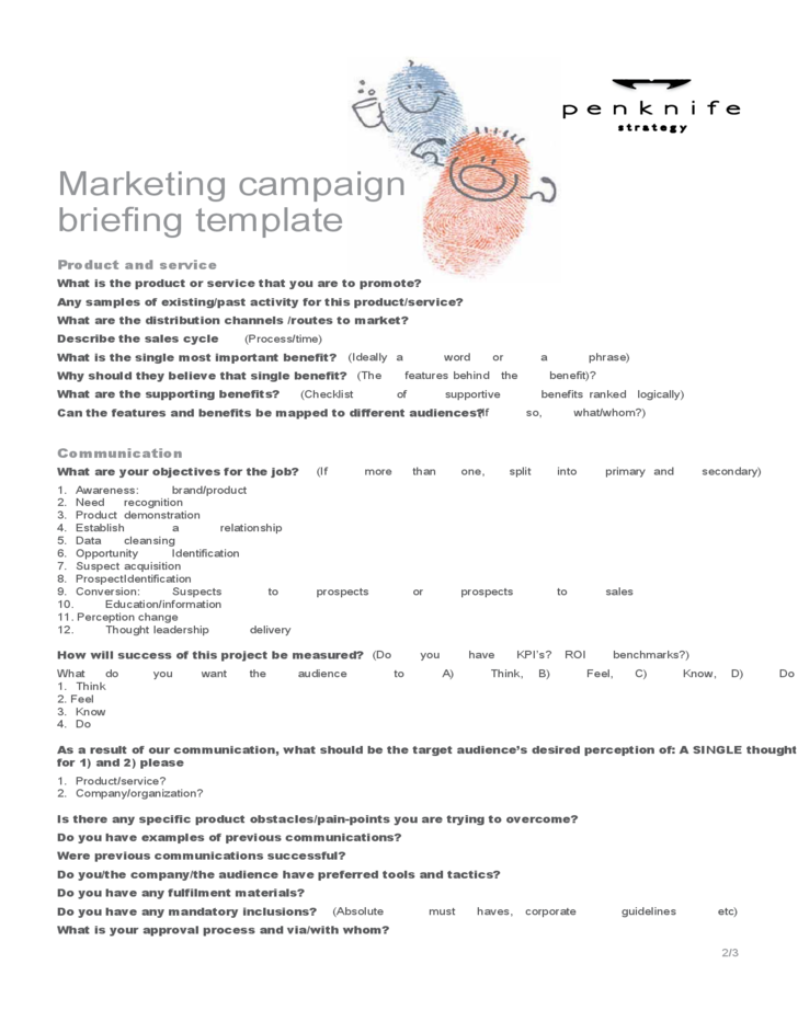 Sample Marketing Campaign Template Free Download – Sample Marketing Campaign
