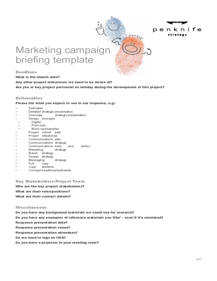 sample marketing campaign template free download