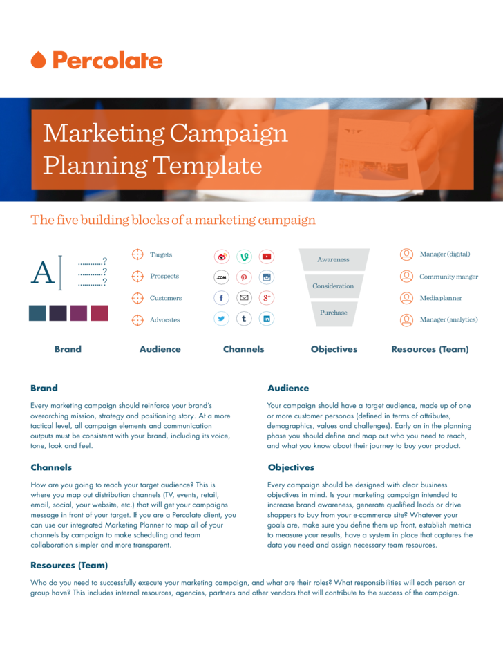 Marketing campaign plan template free download for Digital marketing campaign planning template
