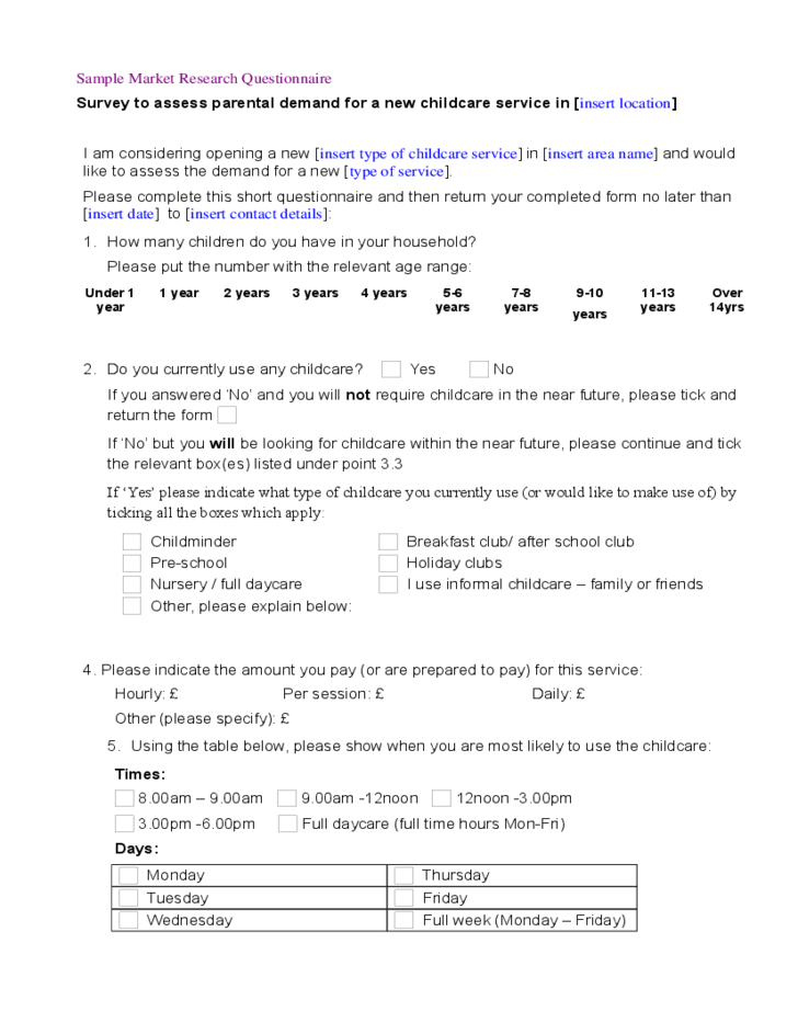 sample questionnaire Here are 5 customer satisfaction survey and questionnaire sample templates you can use right away to start properly measuring customer satisfaction keep in mind, all of these customer satisfaction surveys come pre-made and ready to use when you sign up for a qualtrics research suite account.