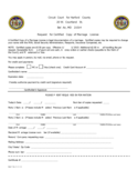 Application for Certified Copy of Marriage License - Maryland Free Download