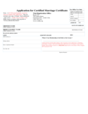 Application for Certified Marriage Certificate - West Virginia Free Download