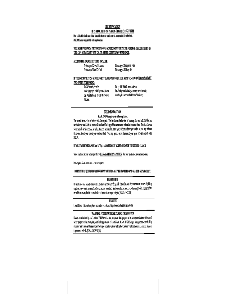 marriage certificate kansas copy certified application form