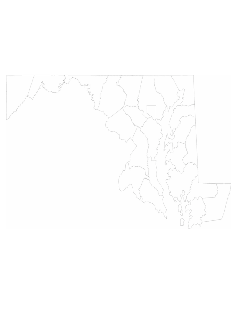 Blank Maryland County Map