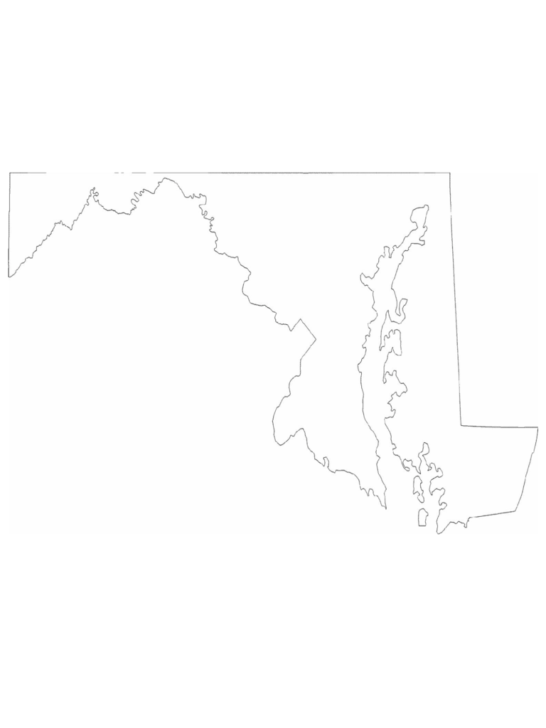 Maryland State Outline Map
