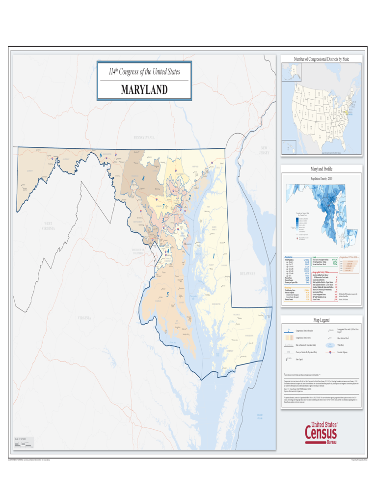 Maryland Congressional District Map