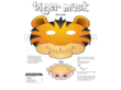 Tiger Face Mask Template