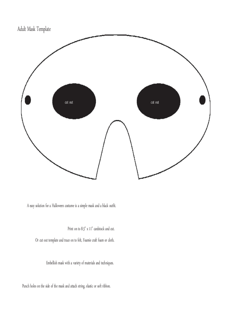 Mask Template. Adult Mask Template  Mask Templates For Adults